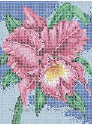 """Схема для вышивки бисером (бісером) на габардине """"Орхидея"""" , фото 2"""