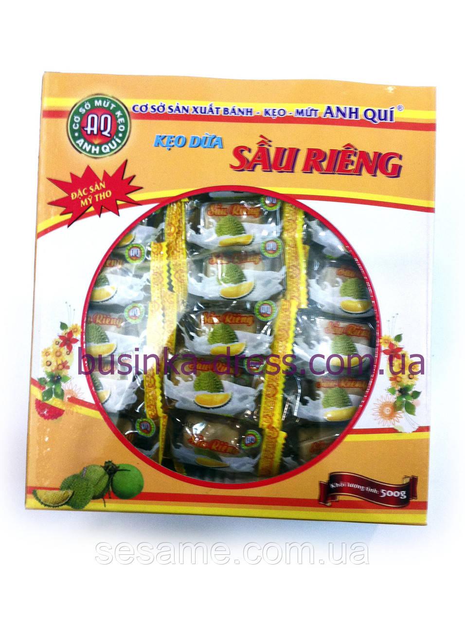 Кокосовые фруктовые натуральные конфеты 500г из Дуриан (Вьетнам)