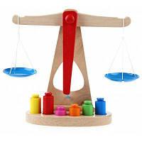 Смешные деревянные весы-игрушки для раннего обучения Цветной