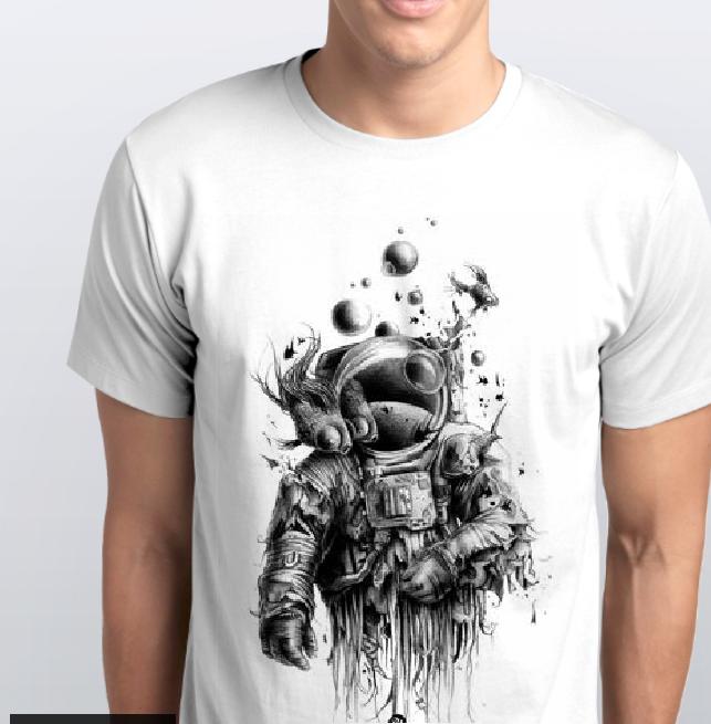 Футболка мужская космонавт