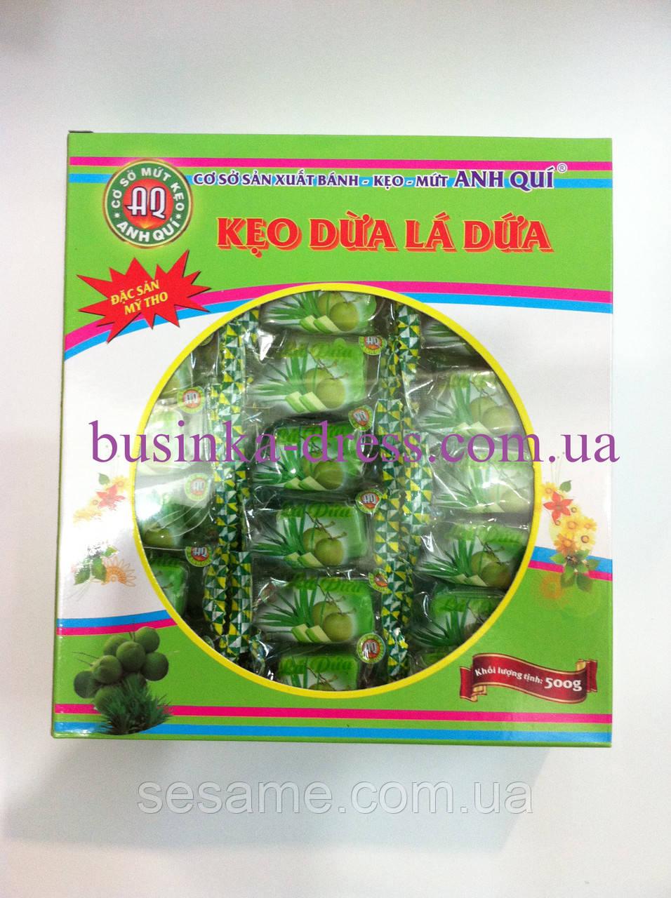 Кокосові фруктові натуральні цукерки 500г з Листя желе (В'єтнам)