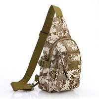 Рюкзак груди для открытого путешествия бивака и прогулки 6л пустынный камуфляжный