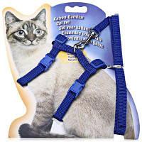 Регулируемый мягкий нейлоновый поводок для выгула кошки Синий
