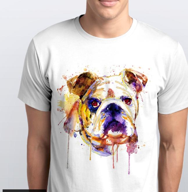 Футболка мужская  собака дог