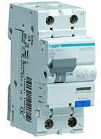 Дифференциальный автомат Hager 1+N, 16A, 10 mA, B, 6 КА, A, 2м (AC916J)