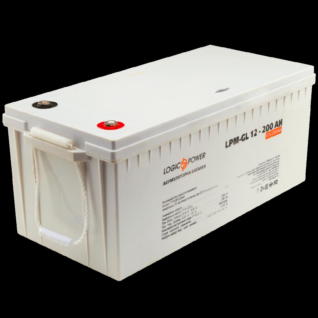 Гелевый аккумулятор Logic Power LPM-GL 12V 200AH (12 Вольт, 200 Ач)