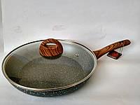 Сковорода из литого алюминия Vissner VS 7533-26 marble/wood