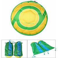 Багажный мешок с формой футбола и складным характером для мужчины и женщины 18л Жёлтый