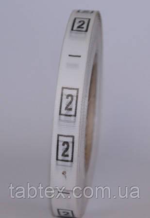 Размерник № 2 (720шт) для одежды накатка