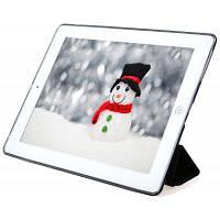 Кожа PU мягкие силиконовые ТПУ задняя крышка для iPad 2 / 3 / 4 Чёрный