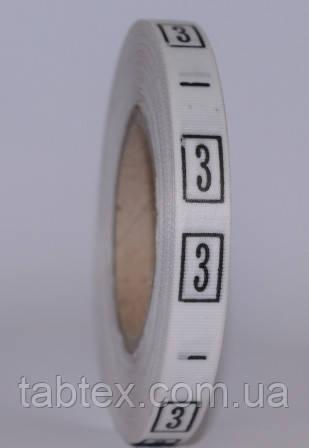Размерник № 3(720шт)  для одежды накатка