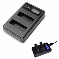 Fat Cat интеллектуальное двойное-слот USB высокоскоростное зарядное устройство с LCD-экраном для GoPro Hero 4 Чёрный
