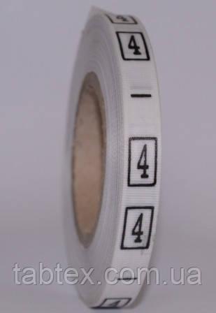 Размерник № 4 (720шт) для одежды накатка