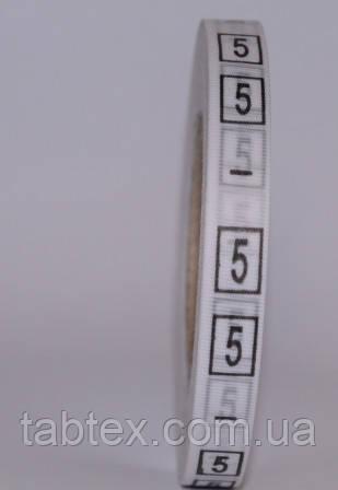 Размерник № 5 (720шт) для одежды накатка