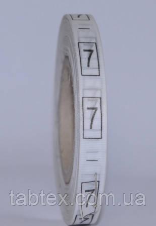Размерник № 7 (720шт) для одежды накатка