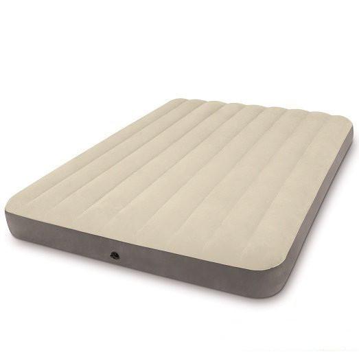 Надувной флокированный матрас матрац Intex 64709