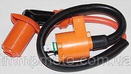 Катушка зажигания усиленная HONDA DIO оранжевая с оранжевым насвечником
