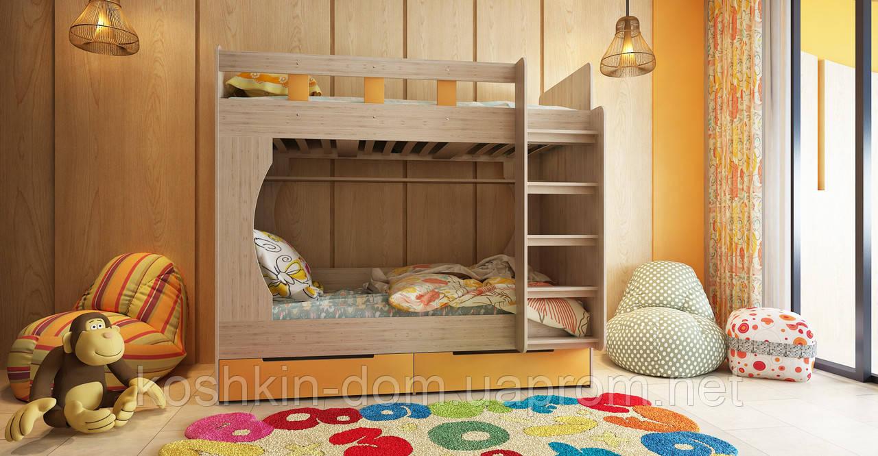 Детская двухъярусная кровать Марли