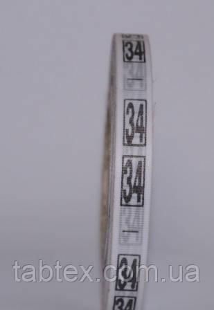 Размерник № 34 (720шт) для одягу накатка