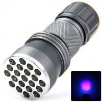390 нм компактный светодиодный фонарик фиолетовый цвет для детектор валют Серый