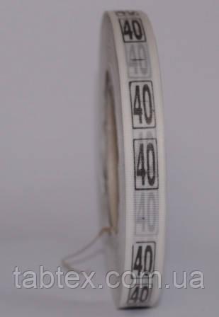 Размерник № 40 (720шт) для одежды накатка