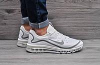 Кроссовки мужские летние легкие удобные Nike Air Max (белые), ТОП-реплика