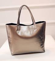 Жіноча сумка з ручками містка золотиста опт, фото 1