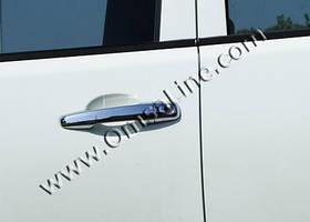 Комплект нержавеющих накладок на ручки к Mitsubishi Outlander 2008-2013 гг.