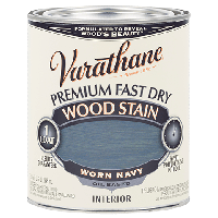 Морилка для дерева Varathane, цвет состаренный синий (Worn Navy), банка 0,946 л