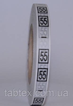 Размерник № 55(720шт)  для одежды накатка