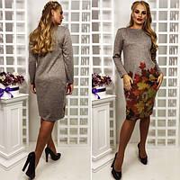 """Платье ангора """"Флора"""" 50-60 р. 3 цвета"""