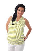 Туника на бретелях для беременных и кормящих мам ДЕЛОВАЯ МАМА (салатовая, размер L), фото 1