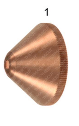 Экран 4,0 мм к плазмотрону Kjellberg® PB-S80® (t-10221) (завихрительный колпак), фото 2