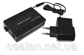 Медиаконвертер 100mb 1550 1SC.WDM+1RJ45 Plastic