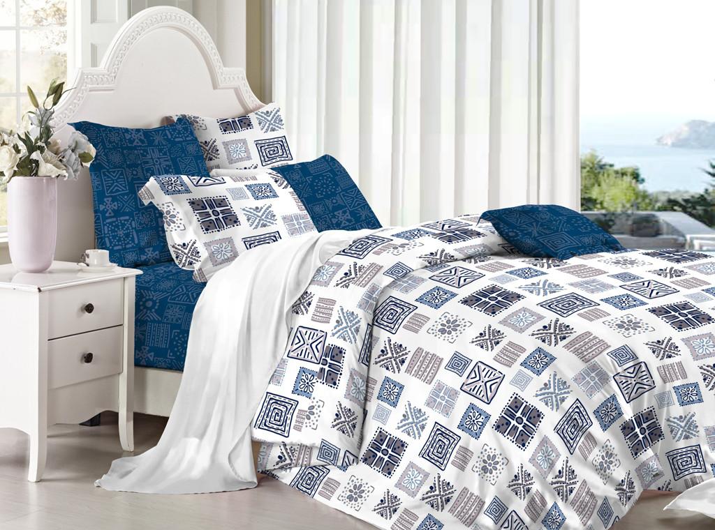 Двуспальные комплект постельного белья 180х220 из сатина Иероглиф