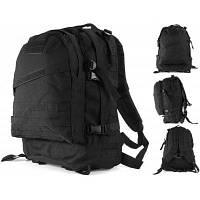 45л открытый 3D тактический рюкзак с системой крепления molle Чёрный