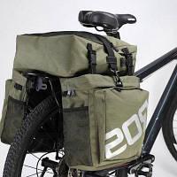 Седло 37Л водонепроницаемость 3 в 1 велосипед сзади Паньер Сумка Зелёный