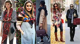 Осень 2017: Как стильно носить платок, палантин, шаль?