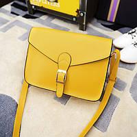 Женская сумочка маленькая через плечо желтая опт, фото 1