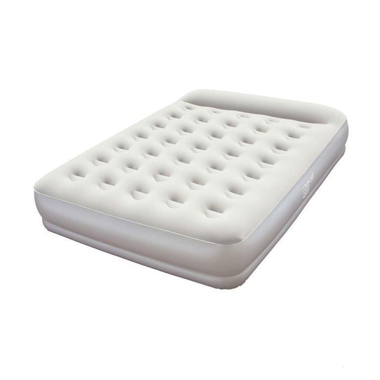 Надувная флокированная матрасс кровать Bestway 67459, серая, 203 х 152 х 38 см Ліжко