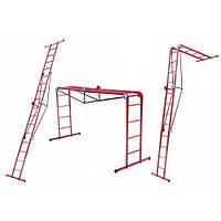 Лестница универсальная - трансформер ТЕХНОЛОГ 4х4 (4.8 м)