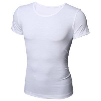 ce5a061c3e39 Базовая мужская однотонная футболка с короткими рукавами и круглым вырезом  XL - ➊ТопШоп ➠ Товары из