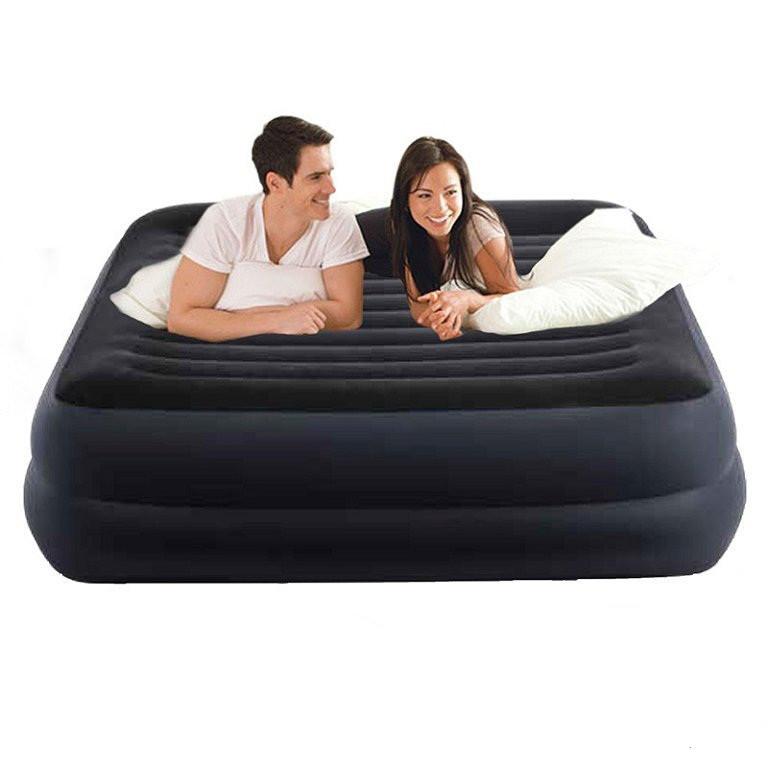 Велюровая надувная кровать Intex 64424 Ліжко