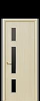 Межкомнатная дверь Герда с черным стеклом ПВХ De Luxe