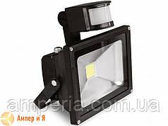 Прожектор світлодіодний з датчиком руху EUROELECTRIC LED COB 10W 6500K