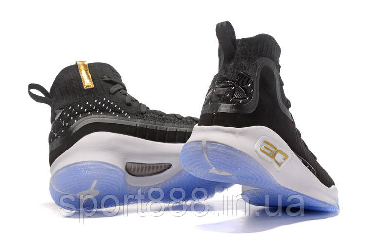 "detailed look 4fd7a b37b5 Under Armour Curry 4 ""MORE DIMES"" Black Gold мужские кроссовки - Bigl.ua"