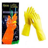 Перчатки латексные хозяйственные Микс