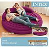 Надувная флокированная кровать Intex 68881, розовая Ліжко, фото 4