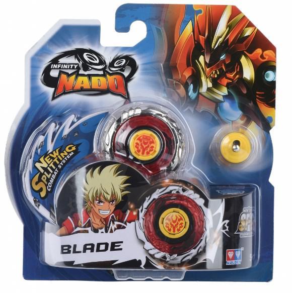 Волчок Auldey Infinity Nado Серия Стандарт - Fiery Blade с устройством запуска, разноцветный YW624302