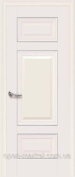 Дверне полотно Шарм Глухе з молдингом колір Магнолія